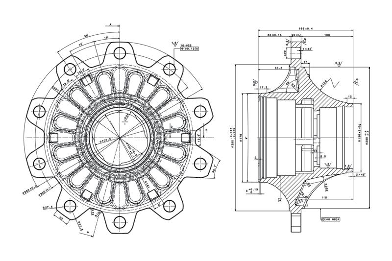 توپی چرخ محور کاسه ای 9 تنی فوکس