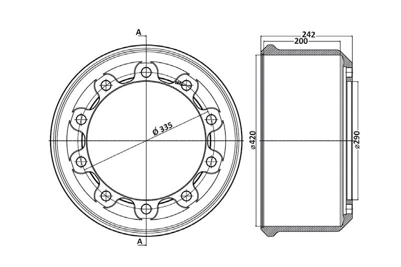 کاسه چرخ محور تریلی فوکس