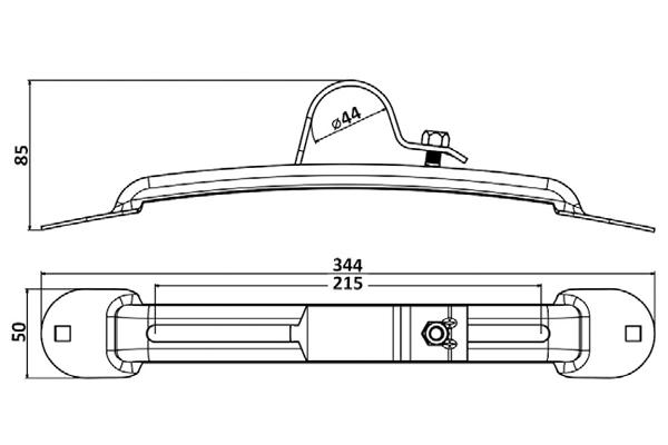 نگهدارنده گلگیر تریلی 3 محور فوکس